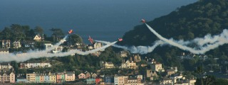 Red Arrows over the Dart
